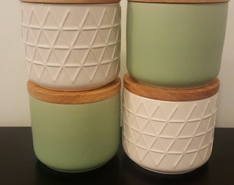 White or Green Candle Canister