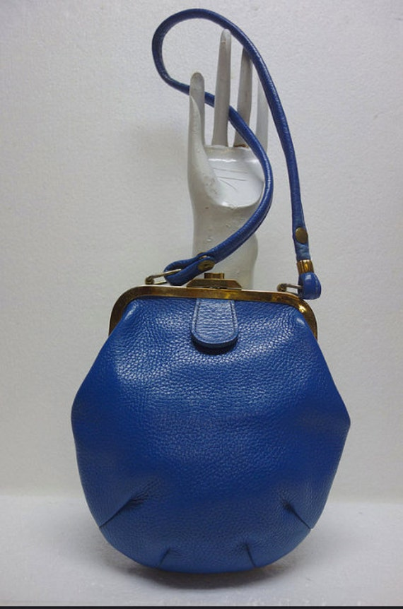 Roger Van S Mid Century Blue Small Handbag Purse