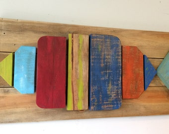 Pallet, Reclaimed Wood, 3D Art, Fish Wallhanging