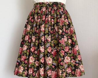 Cotton skirt. Summer night. Size XS.