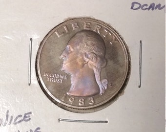 1983-S Proof Washington Quarter with Rose Toning, B-E-A-utiful!
