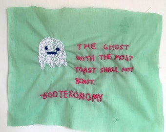 Ghosty Hand-stitched Wall Hanging