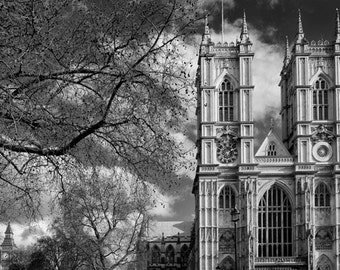 Westminster Abbey under full moon