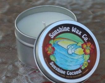Sunshine Coconut Premium Soy Wax Candle