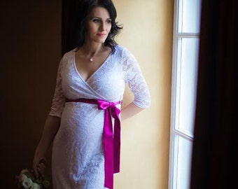 Total Lace Maternity Wedding Dress