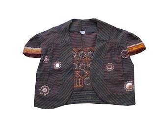 vintage banjara Kutch Embroidered  Jacket,Banjara Style Embroidered koti,rabari work west coat