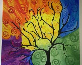Rainbow Tree - by SS