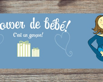 Facebook banner for a baby shower: