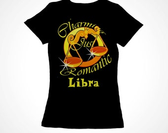 Libra Girls Zodiac Astrology Tee