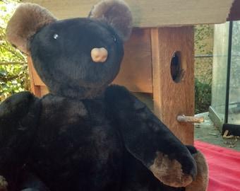 Mink Fur Teddy Bear Black Bear