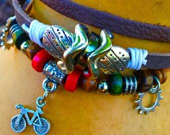 Boho Bicycle Bracelet