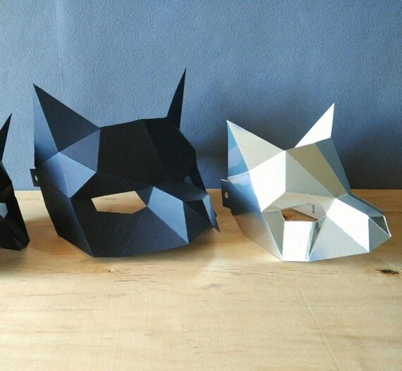 PDF Half cat mask/DIY Cat mask/Paper cat mask/DIY mask/Fancy dress/Halloween Mask/Printable Templates/Animal Mask/Kitten Mask/