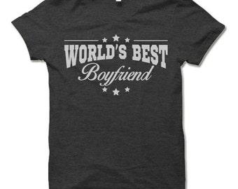 World's Best Boyfriend T Shirt. Funny Gift for Boyfriend Shirt.