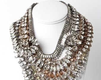 Iradj Moini - Swarovski Necklace - Designer Costume Jewelry - Multi Strand Necklace, Bib Necklace, Crystal Necklace,