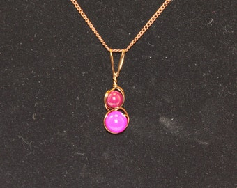 Bronze and Pink Pendant