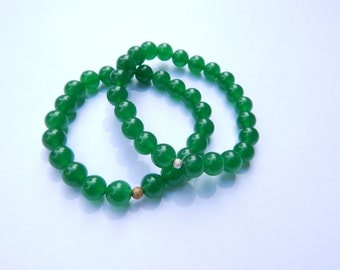 Beaded Money Bracelet - Emerald Green