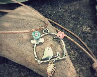 Singing Bird Pendant Necklace