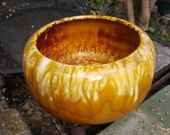 Yellow Planter Bowl by Miali Pottery