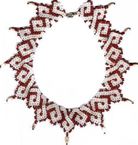 beginner pattern seed beaded necklace beading