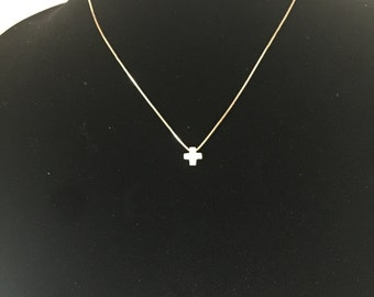Gold Plated Necklace with Cross Charm