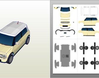 Lapin (Ivory) - Car Papercraft