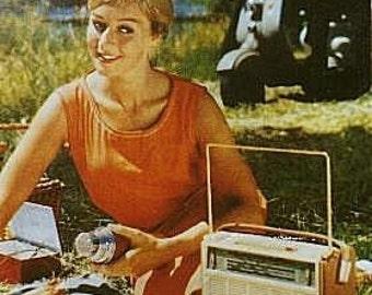 PHILIPS L4X00T - Henriette 400 - All Transistor - Vintage portable radio - All original - 100% authentic.