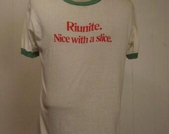 T-shirts, vintage, 1980s, Riunite, Wine, Ringer, XL