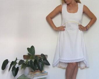 white dress / summer dress / romantic dress