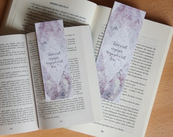Bookmark Art drawing print, Victor hugo, quote illustration brand page