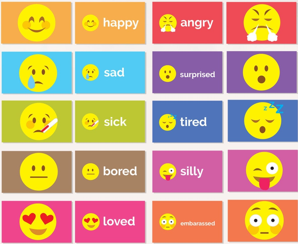 It's just an image of Insane Printable Emotion Cards