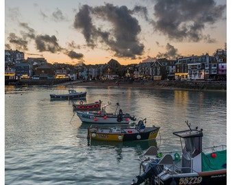 St Ives Boats Photographic Print