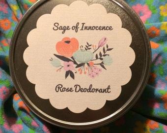 Natural Rose Deodorant