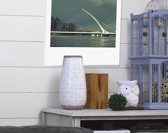 "Custom Polaroid Style Cotton Canvas Print with Copyright Photograph of Dublin - ""The Irish Harp"", 3 sizes available, Custom Wall Decor Idea"