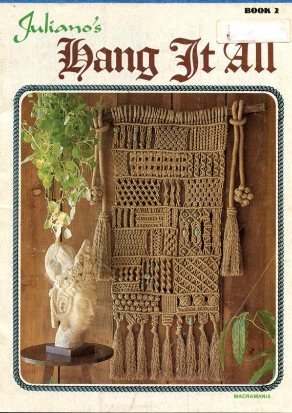 Hang It All Pdf Macrame Wall Hanging Pdf Pattern Book