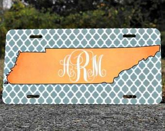 Tennessee Monogram License Plate