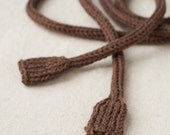 MADE TO ORDER - Knitted Power Cord - Brown - Geek Toy - Knit Extension Cord - Nerd Gift