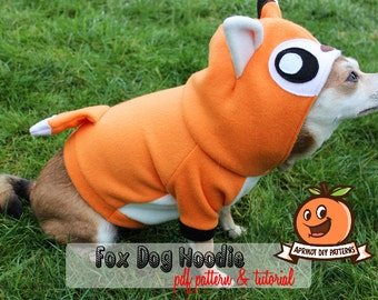 Dog Fox Hoodie Costume XS - MED Pdf Pattern and full tutorial