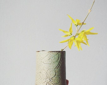 Flower and leaf cup | tumbler | vase