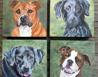 Full of Personality Custom Pet Portrait, Custom Dog Portrait Painting