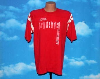 Iowa State University Jersey Tshirt Vintage 1970s - 1980s