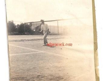 Vintage tennis photo sports athletic antique image