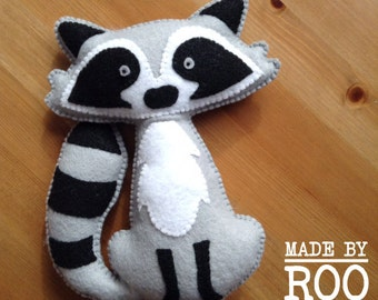Woodland Friends Stuffie-Raccoon