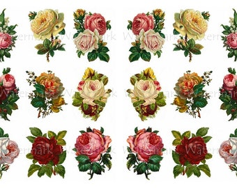 Rose Decals, Decorate Candles, Soap, Glass, Home Decor, Furniture, Magnets, Jewelry, Craft Projects, Scrapbooks