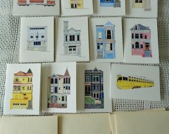12 Notecard Set - San Francisco