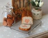 Dolls House Miniature Heart Inside Surprise Cake