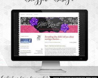 Custom Blog Design for Blogger, Blog Header, Banner, Background, Button, Favicon, Graphic Design