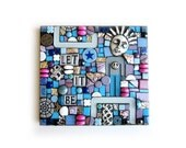 Let It Be. (Mixed Media Mosaic Assemblage Art Original Handmade Wall Plaque by Shawn DuBois)