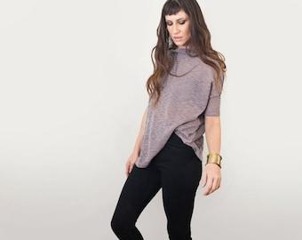 Women's Top • Box Shirt Oversized Blouse • Cowl Neck • Boho Bohemian • Loft 415 Clothing (No. 819)