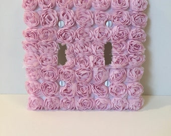 Savannah Rose Light Switch Cover Plate-Pink (available as rocker plate, standard & outlet, single, double or triple)