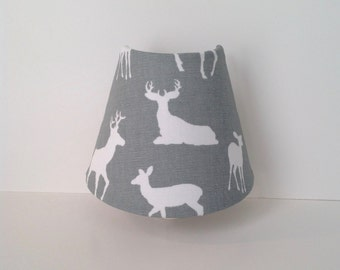 Gray & White Deer Night Light